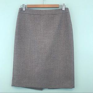 J.Crew Gray Wool Pencil Skirt